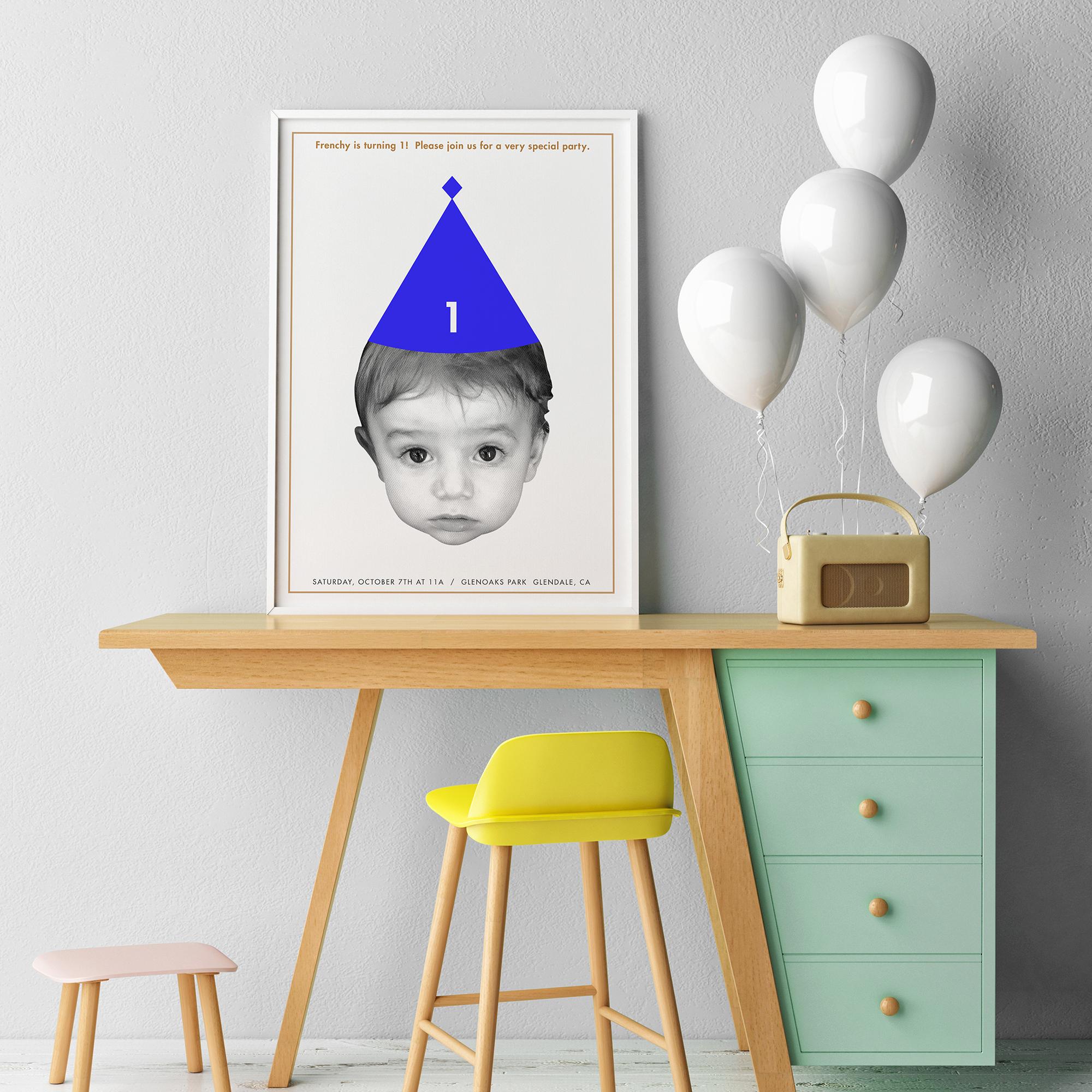Frenchy Klosterman: 1st Birthday Poster