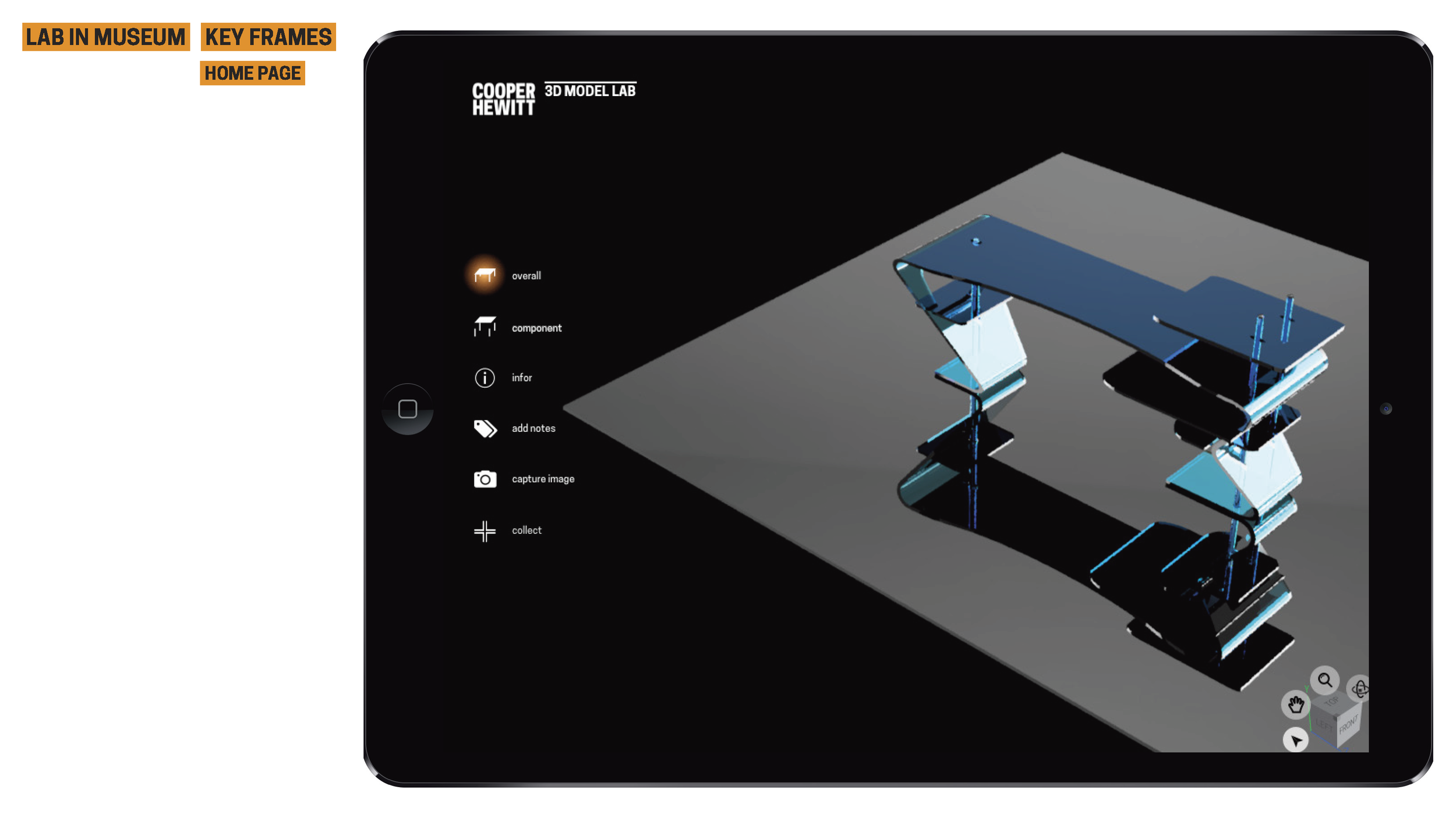 Overall Mode   In the overall mode, you can manipulate a 3D object. which aids in the processes of learning and understanding.