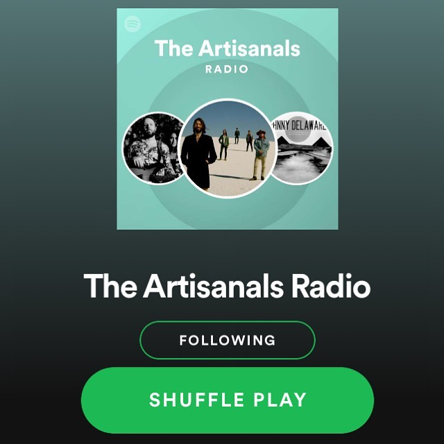 """What's up Artisans! Spotify just created a very Artisanal radio station based on our music! Show us some love and click the 🖤 button under """"The Artisanals Radio"""" so you can follow the station and stay up to date on the new playlist additions. ...and since you're already on Spotify, why not give us a follow while you're here?  Link in bio! 🍄"""