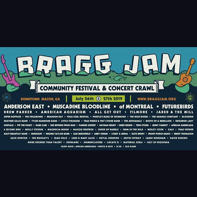 Heyo! Playing @braggjam tonight in Macon! So many wonderful artists are playing as well! Gonna be a great night. On at 9:30 at the @rookerymacon