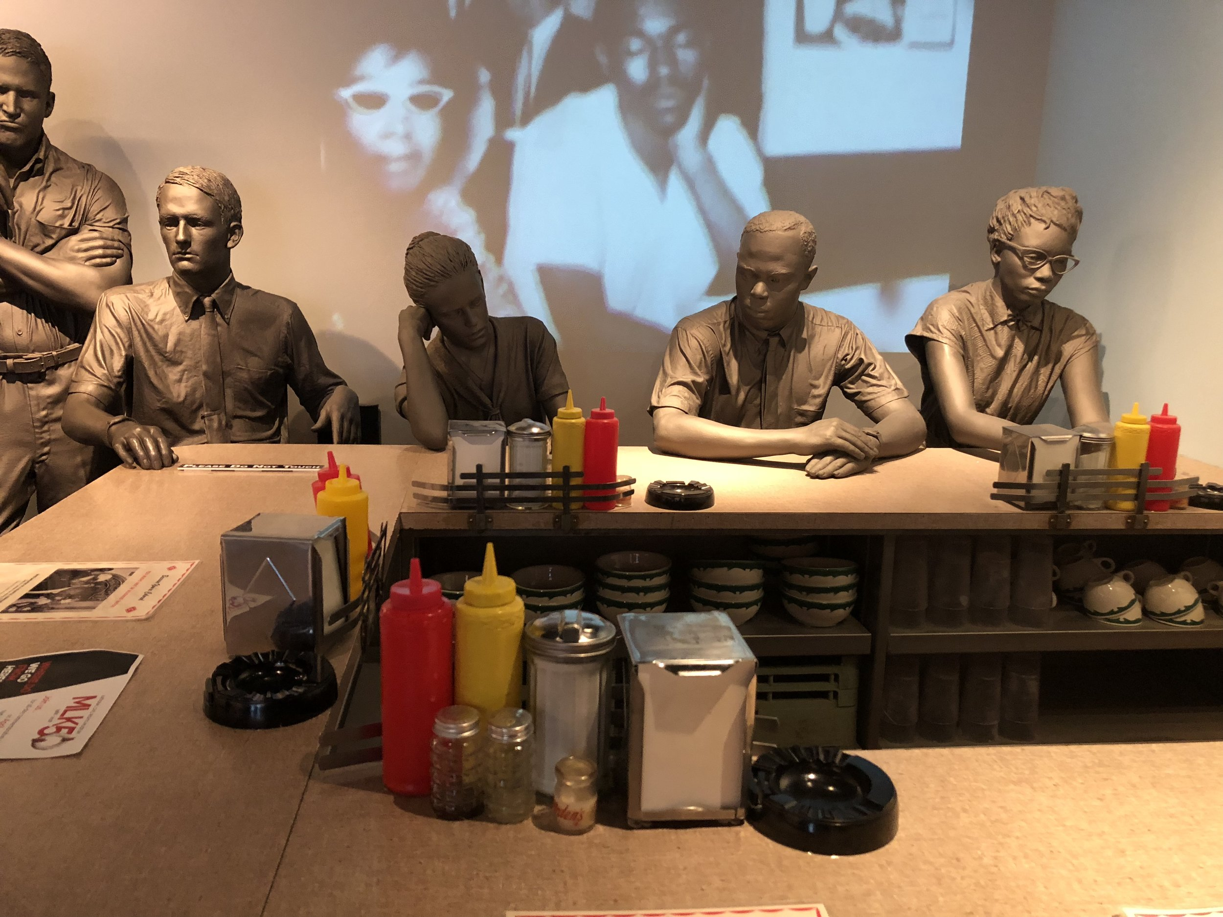Sit-in exhibit of the Civil Rights Museum
