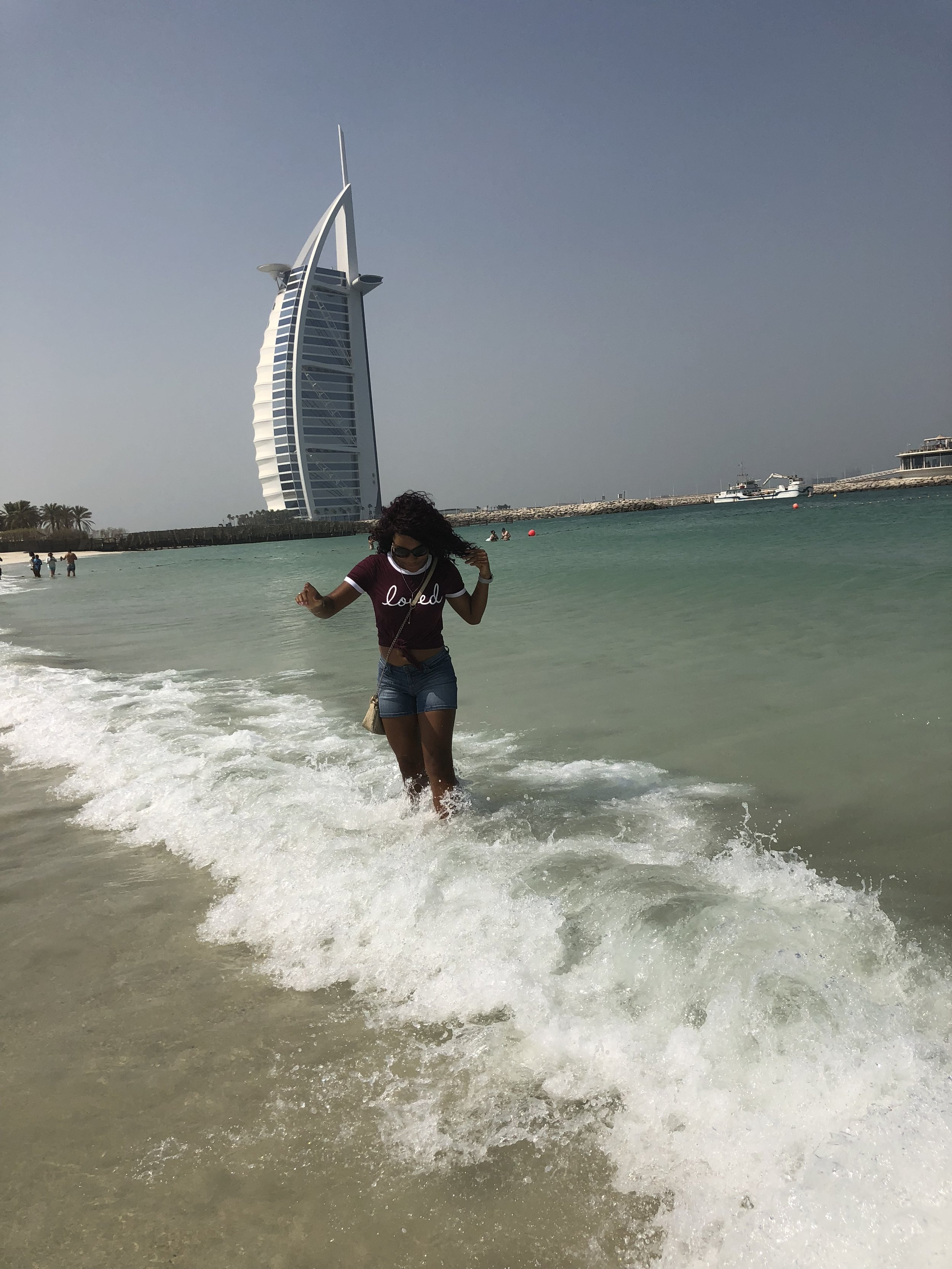 At Dubai Beach :)