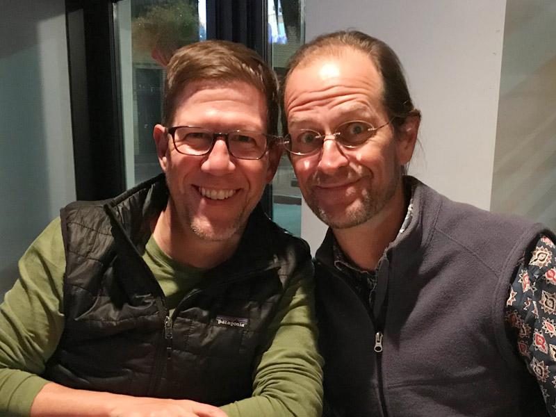 Co-drivers Jeff and Chris Mason