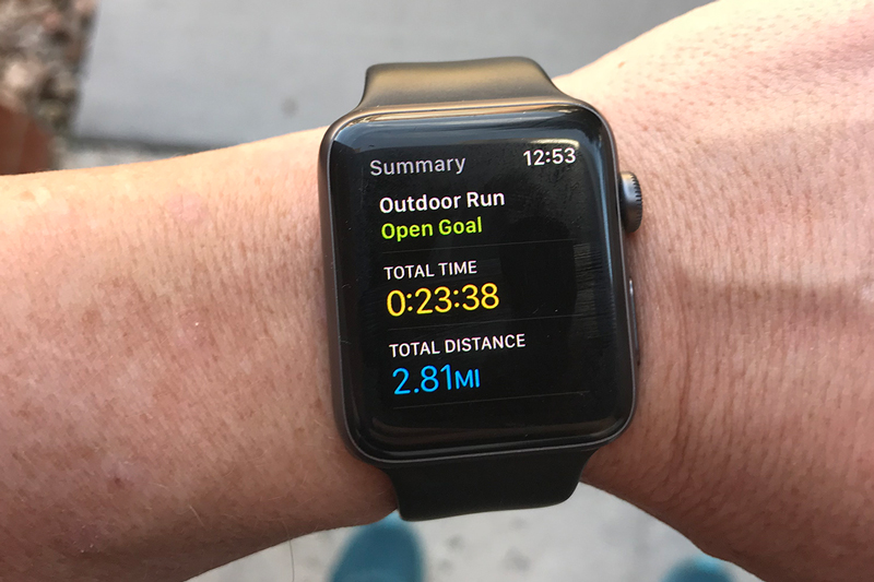 I track all my workouts with my watch.