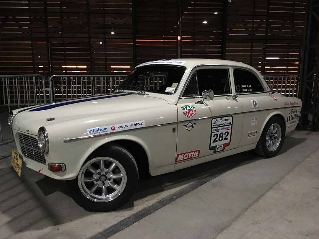 The Volvo Amazon is ready to race.
