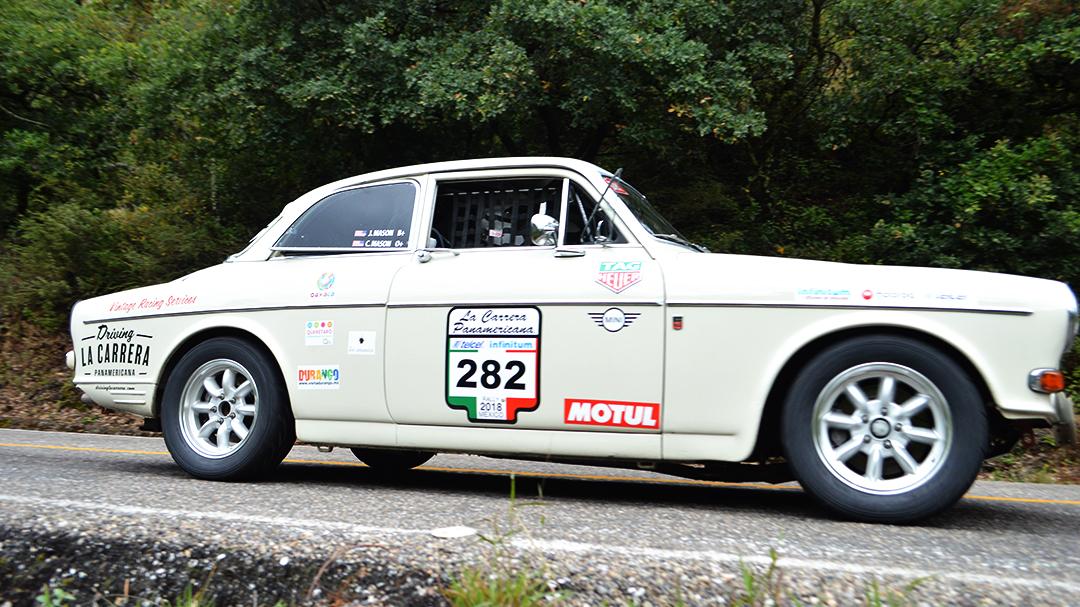 Our Volvo on stage in La Carrera Panamericana.