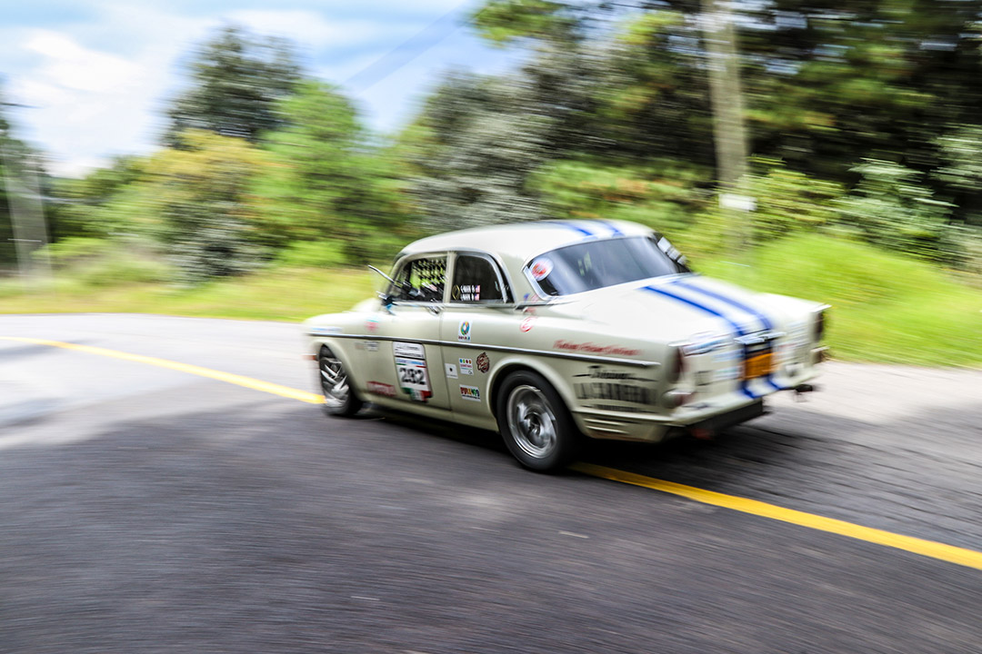 A 1965 Volvo Amazon makes an excellent rally car.