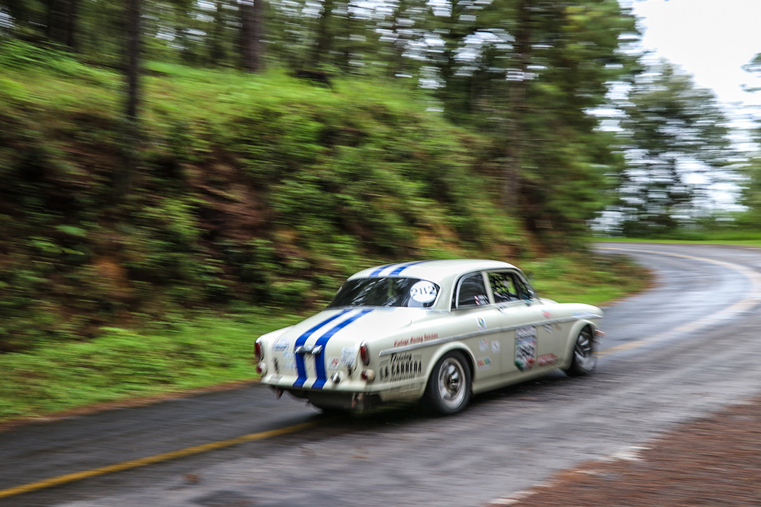Into a turn on Mil Cumbres in La Carrera Panamericana stage 4