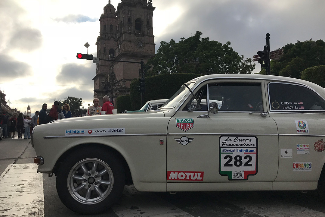 The Catedral of Morelia made a beautiful rally start.