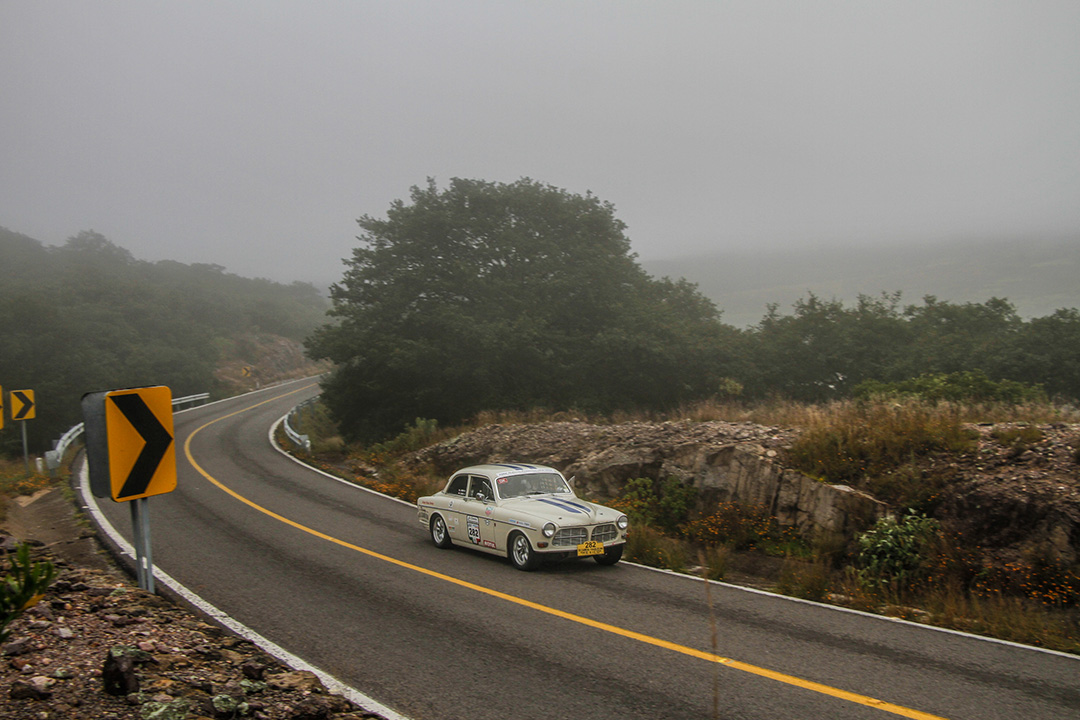 Early morning fog on stage 6 of La Carrera Panamericana