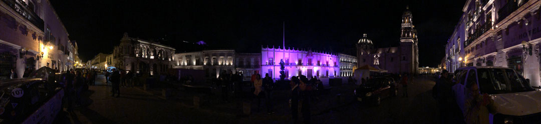 Zacatecas at night.