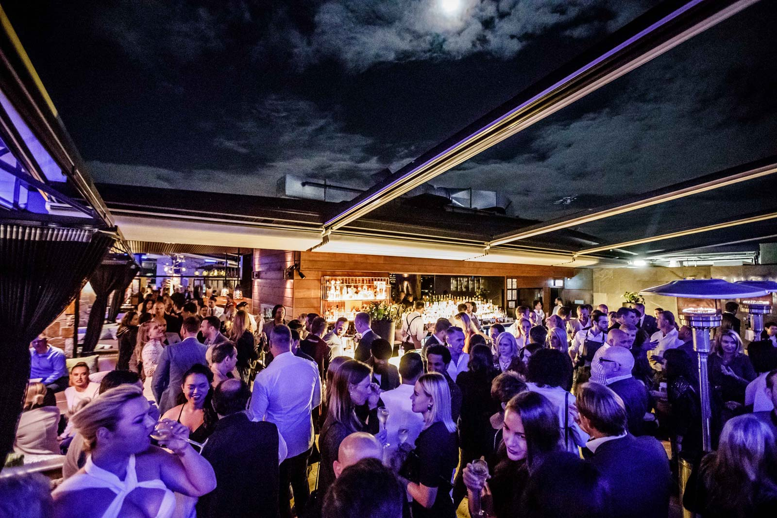 Enjoy a classy yet fun party atmosphere at the prestigious Eleven Rooftop Bar