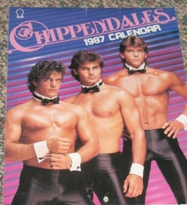 Check out this old Chippendale's calendar from the 80's!