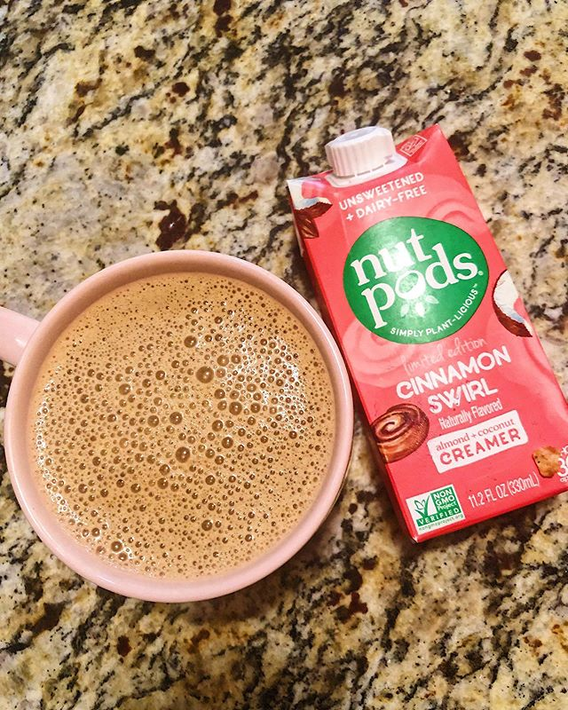 Happy Saturday! . Day 1 of my 4th Whole30 starts as every morning starts. With @nutpods of course! . I love their newest flavor that was just released, Cinnamon Swirl! If you have not tried Nutpods, snag some for yourself at 15% off using paleo_rva at checkout! . Here are the deets on my morning coffee: 1. @starbucks coffee 2. @fourthandheart Vanilla Bean Ghee 3. @primalkitchenfoods Collagen 4. @nutpods . I used my frother to mix everything together and done! . . . #nutpodsquad #nutpods #collagencoffee #whole30 #whole30alum #morningcoffee #coffee