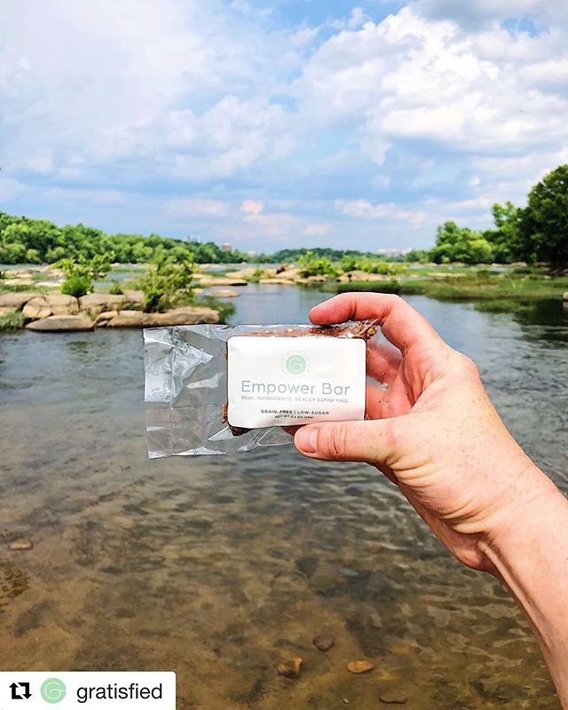 In honor of @saramcglothlin birthday 🎂🎉 and launch of her Cookbook I am reposting these bars that are my FAVE!! Took this pic while having a day at the Rivah in #RVA . If you are looking for grain-free, low sugar REAL FOOD bars like me, y'all these are IT!! Order your 10 pack at Gratisfied.com/shop . . Repost @gratisfied ・・・ Empower Bars empowering your long hike on a beautiful summer day. Satiating, real food fuel to energize your trek through nature!! Thank you @paleo_rva for sharing! Available through the link in profile or www.gratisfied.com/shop . .  #gratisfied #empowerbars #grainfree #bloodsugarbalance #riverday #rva #jamesriver #belleisle #richmond #Health #Healthy #Wellness #Healthylifestyle #Healthandwellness #Healthychoices #Healthytips #Healthyfood #Cleaneating  #Eathealthy #HealthyLife #HealthTalk #MindBodySoul #GlutenFree #HealthyRecipes #Nutrition #Paleo #HealthyEating #EatClean #Cleaneats #CleanEating