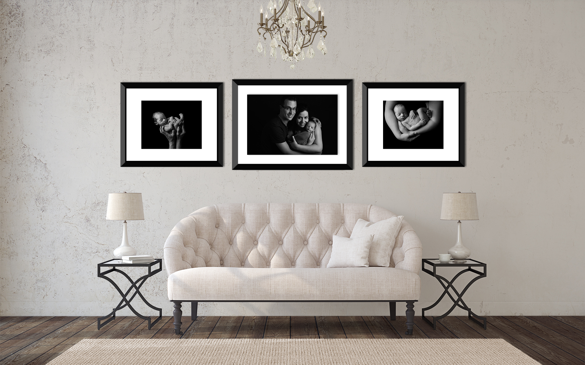 Framed Prints - Classic framed portraits to suit any decor. Beautiful wooden frames available individually or in wall groupings custom designed for your home.Prices start from $450.