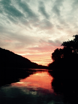 Sunset on the upper Potomac River