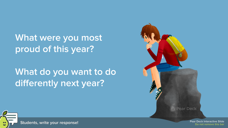 You can edit this template for the beginning of the year as well. Ask teachers what they are most excited and nervous about as you head into a new year.