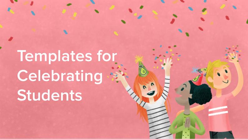 celebrating students