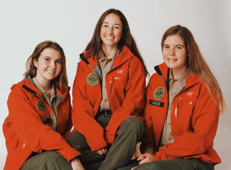 marin search and rescue from left to right sabrina Tripp, Kayln Dawes, Kate Larsen .jpg