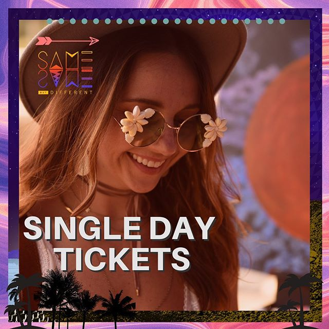A limited number of Single Day Tickets will be on sale Aug 2nd ✌🏻If you can only join us for a day, this is your chance. Only $89 while they last 🤙🏼