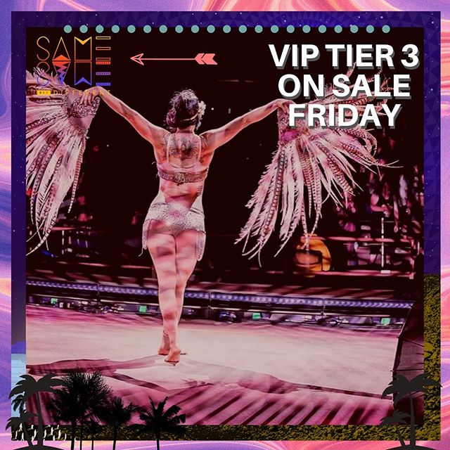 Tier 3 on sale at noon Friday PST. These have gone very quickly in our past 2 tiers so act quick for nicer bathrooms, VIP lounge, Thursday arrival, refreshments and loads more. #viptickets #ssbdfest