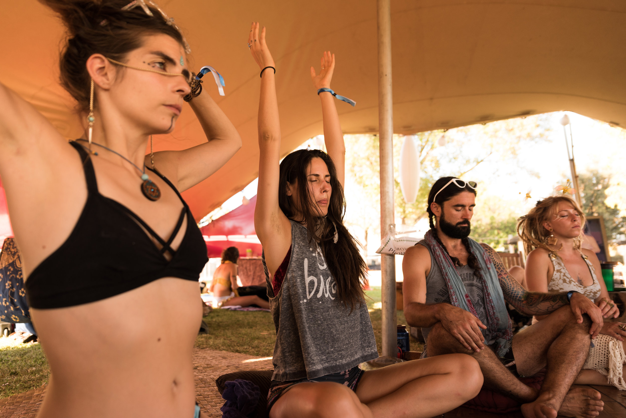 FESTIVAL WORKSHOPS - We're all in this together. We're here to learn and to grow with each other. Talented individuals help guide in yoga, dance, meditation and more during the weekend.