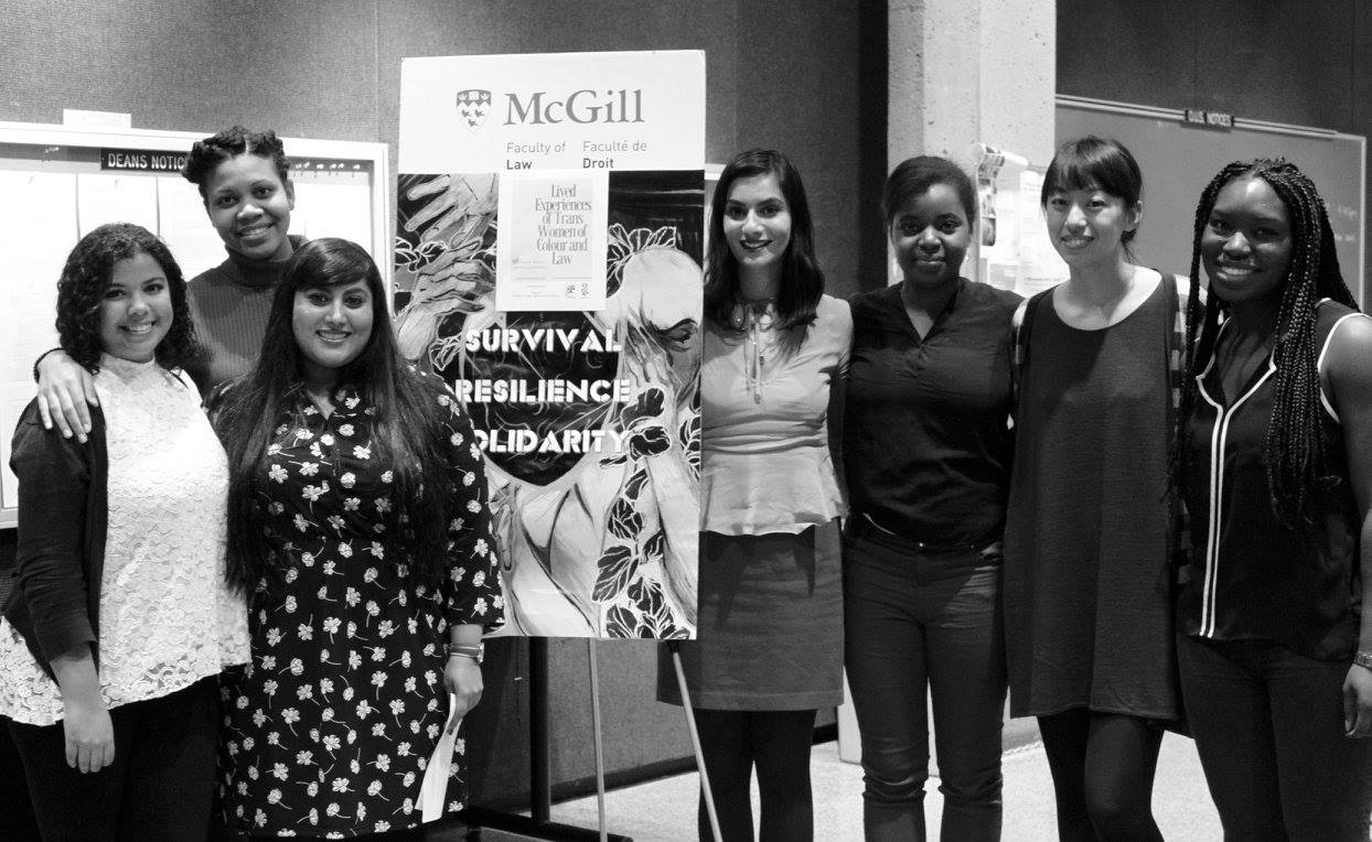 [2016 - 2017]  From Left to Right: Sara Pierre, Chantelle Dallas, Romita Sur, Nazampal Kaur Jaswal, Andrea Baptiste, Betty Zhang and Rachelle Rose