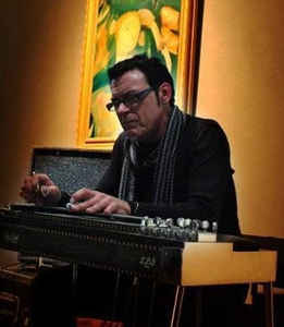 Michael Rozon on his pedal steel