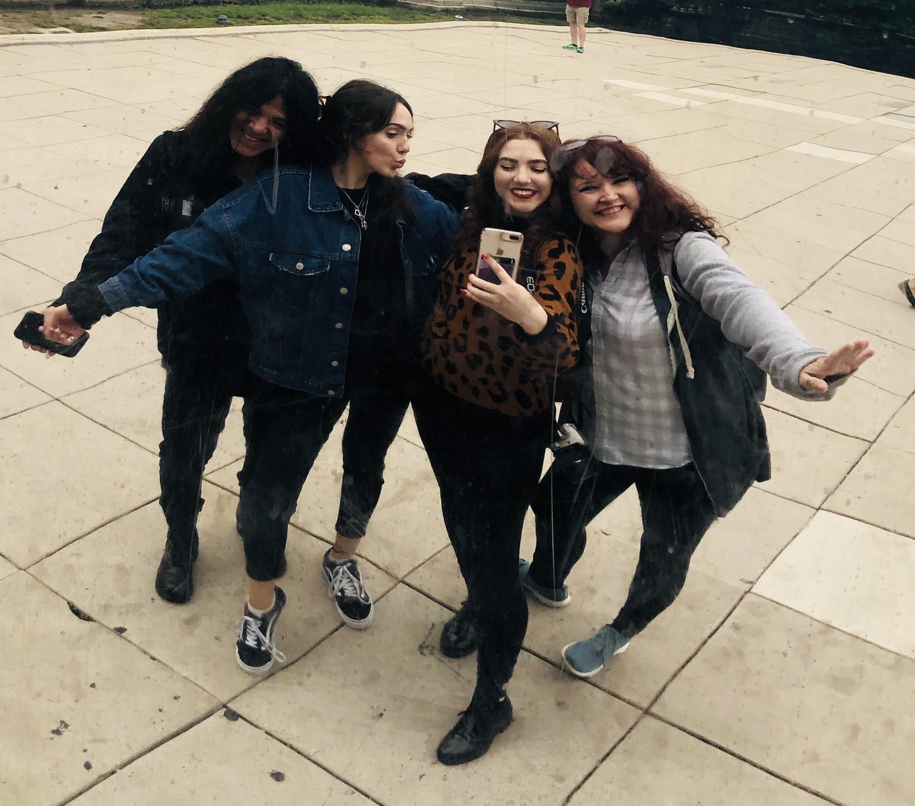 My beloved ladies and I at 'the bean' in Chicago !