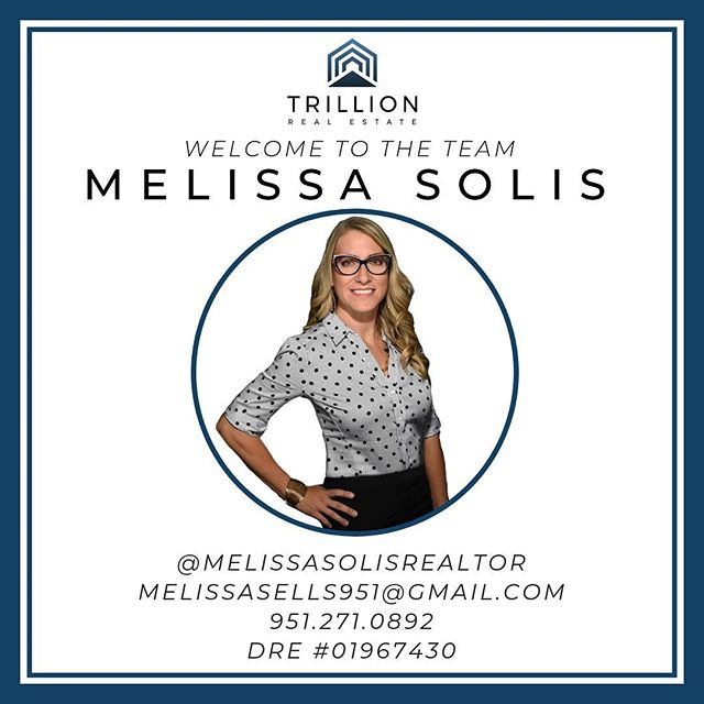 Welcoming Melissa Solis to the Trillion Real Estate Team this week!🎉 Melissa has had her real estate license for just over 3 years now and is loving it! Melissa specializes in, and loves working with #buyers and VA loans, however she enjoys working with all types of clientele! 🤝 Melissa also has her Bachelors degree in Business from Chapman University! 🎓 - Fun Facts: Melissa is married with 4 kids - 3 boys and 1 girl! 👨‍👩‍👧‍👦 They all enjoy watching football🏈, baseball⚾️ and movies as a family. Melissa also loves trying out new restaurants whenever she can, but her favorite foods are Thai and Mexican! 🌮🍜 Lastly, she enjoys escaping to our local #temeculawineries to relax with a nice glass of wine!🍷 We are happy to have you @melissasolisrealtor 🙌🏻 #TysonRE #welcome #welcometotheteam #trillionrealestate #agent #realestateagent #realestate #realtor #temecula #temeculavalley #temecularealestate #inlandempire