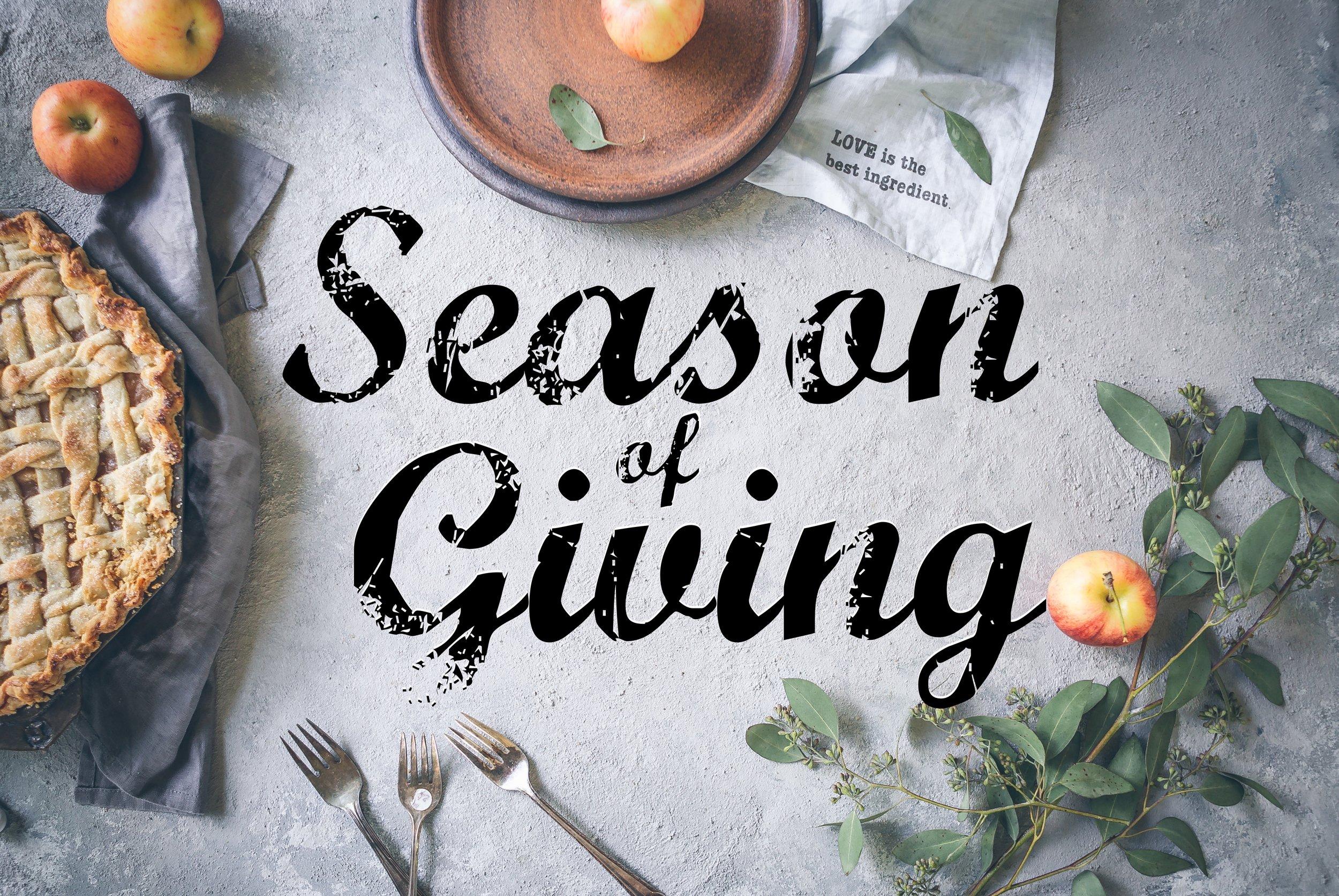 Season of Giving (November 2018)