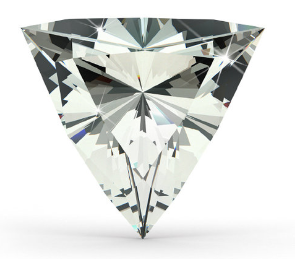Trillion Cut    The trillion cut diamond is truly unique and an adventures choice for a solitaire. Similar to the emerald-cut-diamond, inclusions are very easy to be seen in the trilliant shape and therefore high clarity is an important part when selecting your stone.