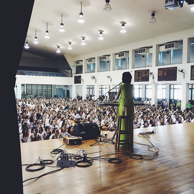 Inspiring young women at St Margaret's Secondary School, 2015