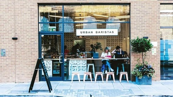 URBAN BARISTAS  · LONDON · coffee shops in a trendy environment