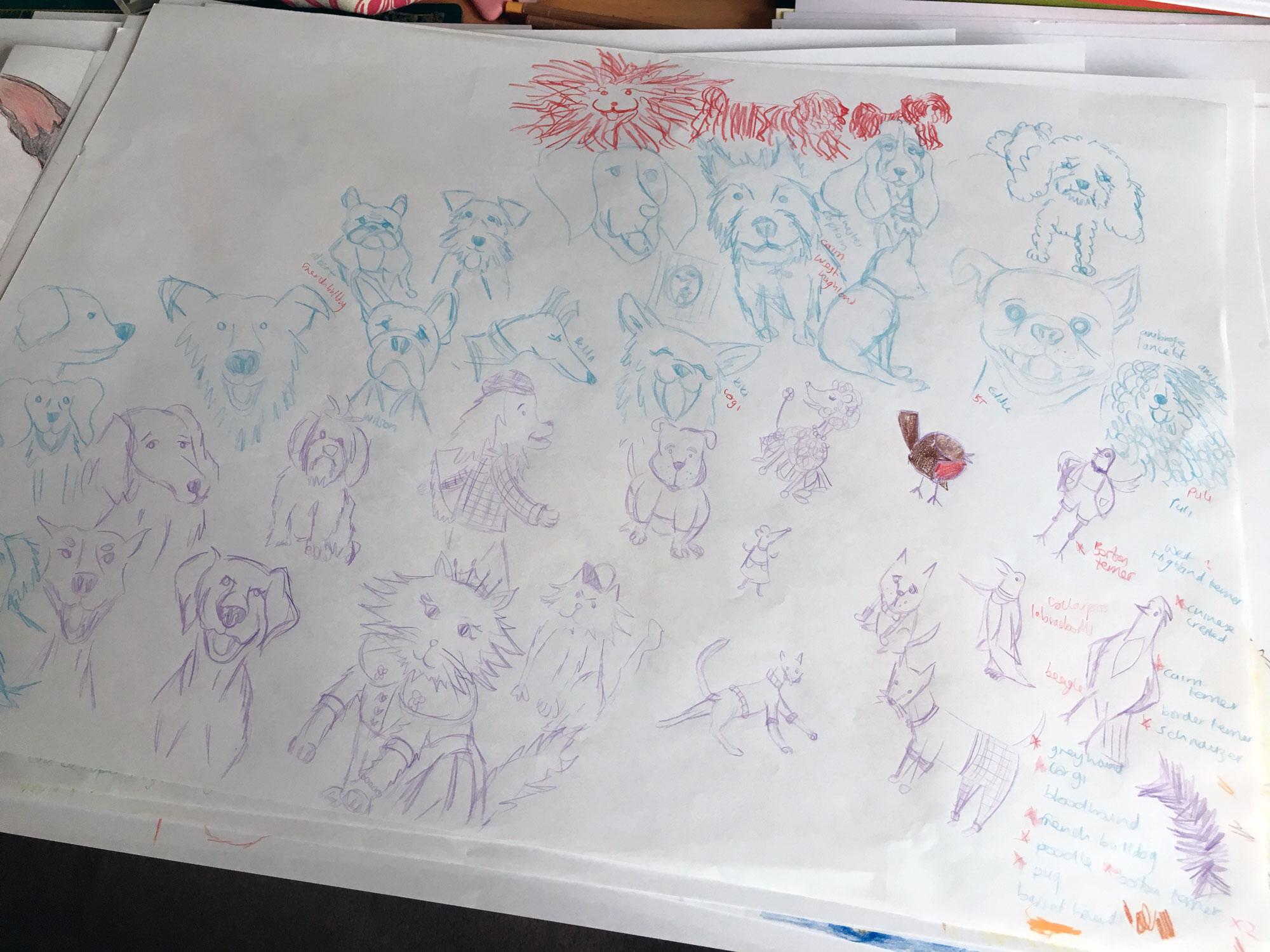 Initial scribbles