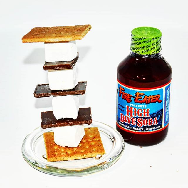 @fireeaterfoods marshmellows and #HighDiveSoda #OrangeCreamSoda