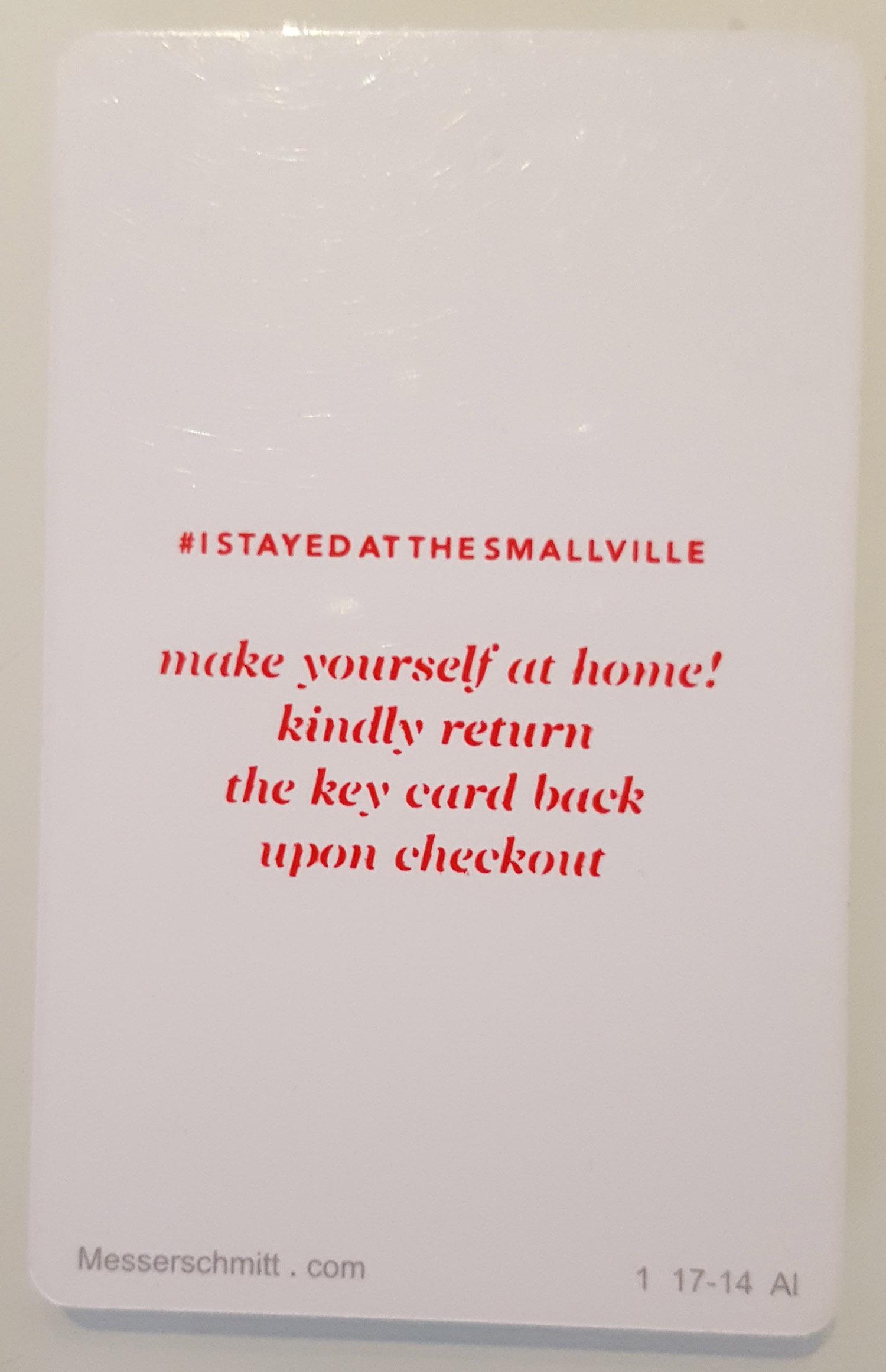 Smallville Hotel keycard.jpg