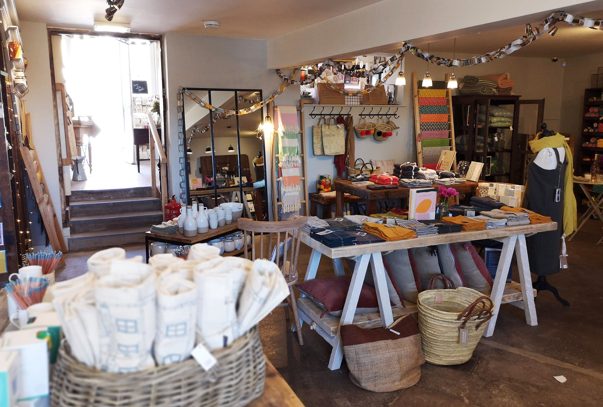 Homewares and birthday bunting in The Mainstreet Trading Company