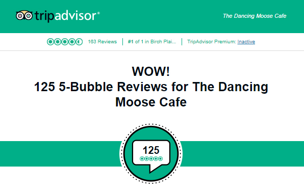 5 bubble Trip Advisor