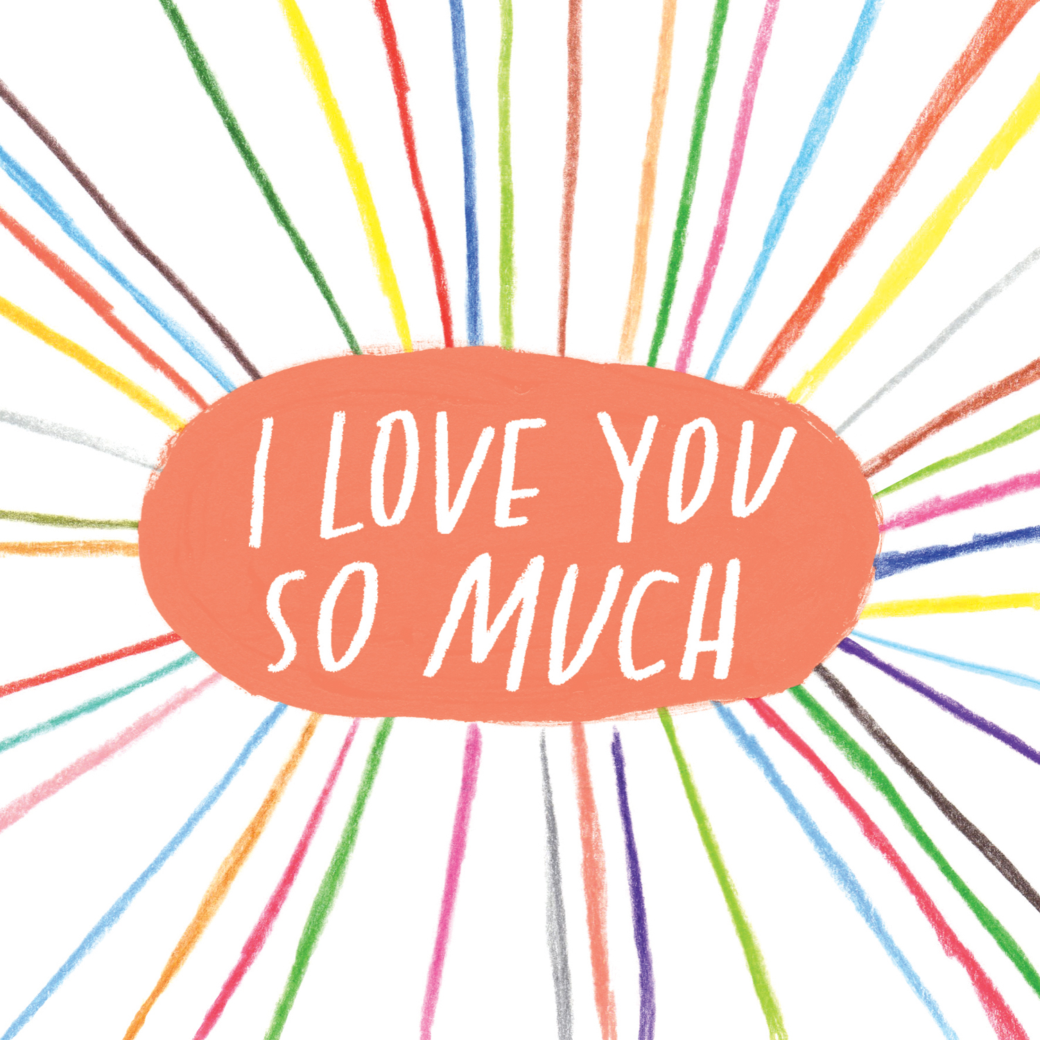 I Love You So Much card design, licensed by U Studio