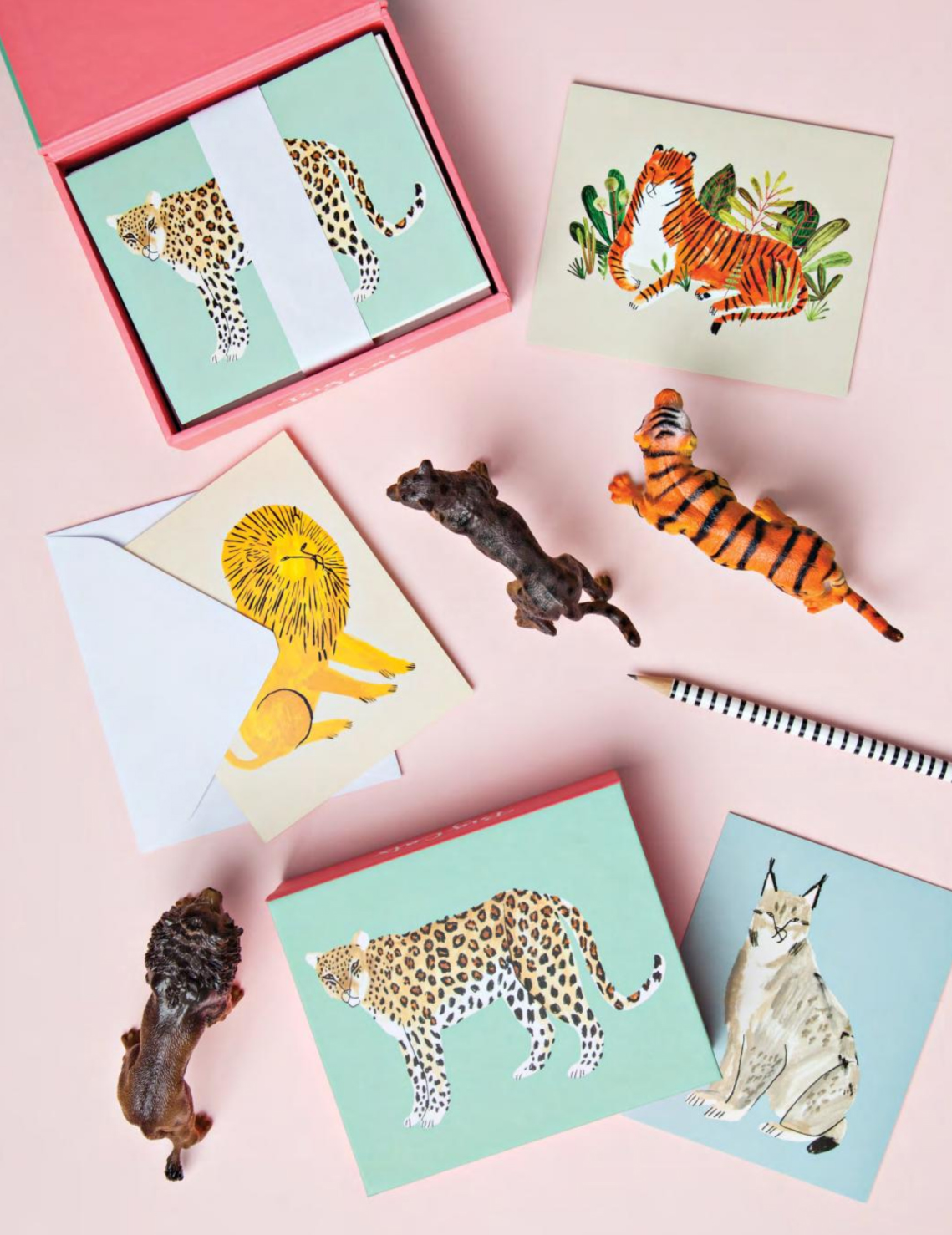 Big Cat QuickNotes notecard set for teNeues