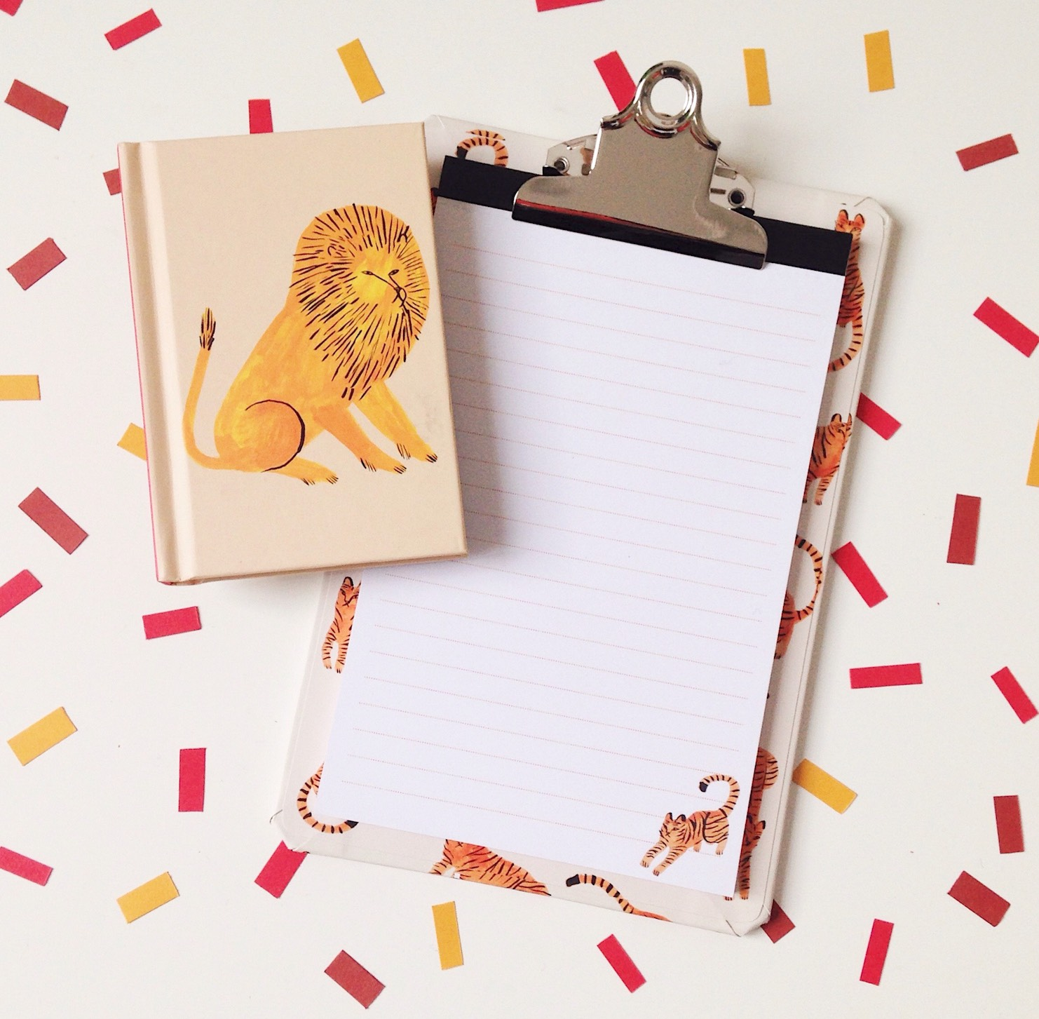 Mini Tiger Clipboard and Mini Lion Notebook from teNeues
