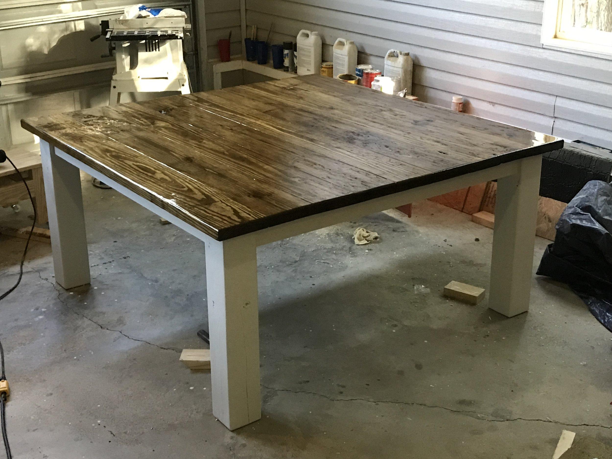 Chunky Farmhouse Table