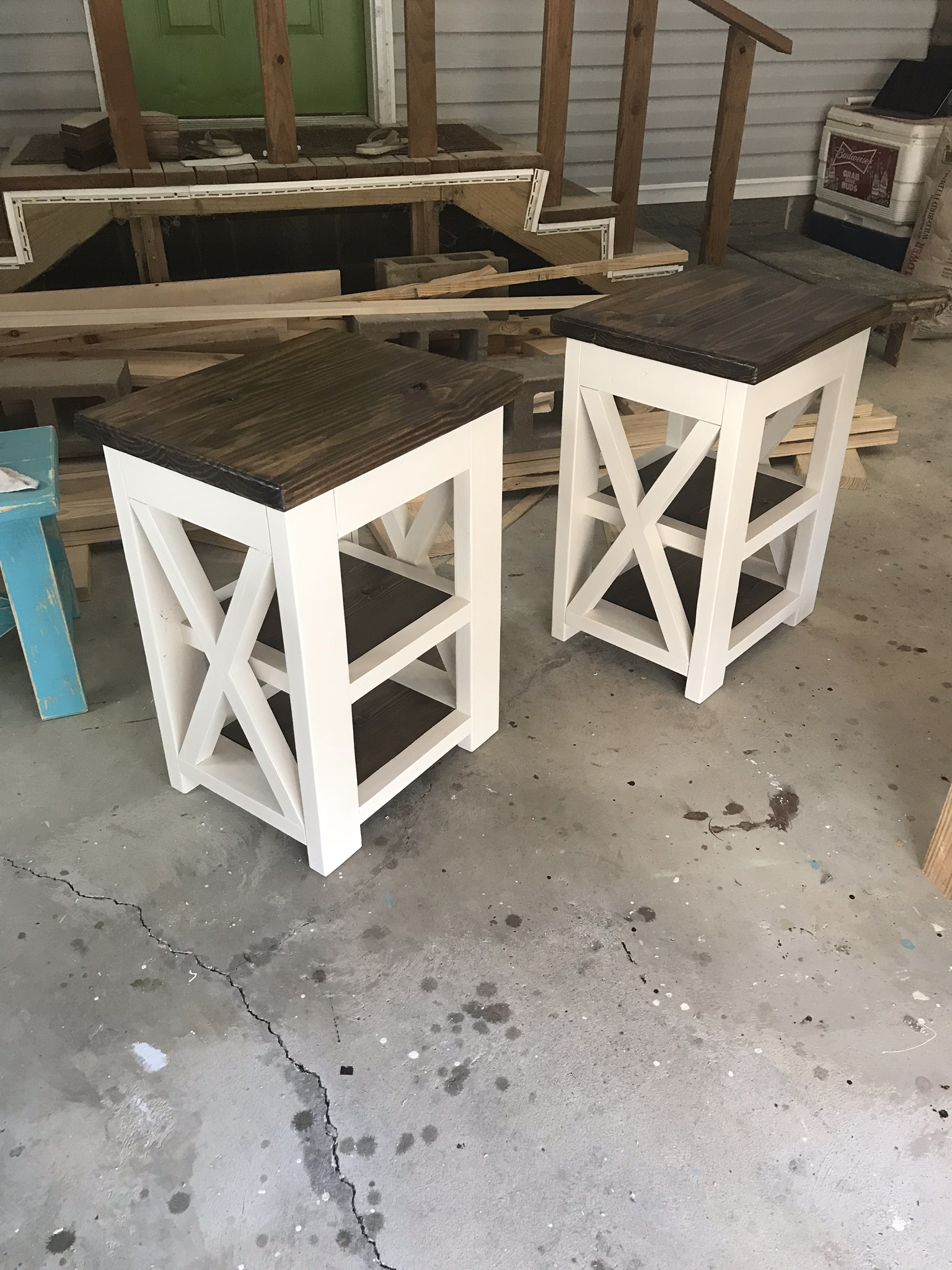 X Farmhouse Night Stands