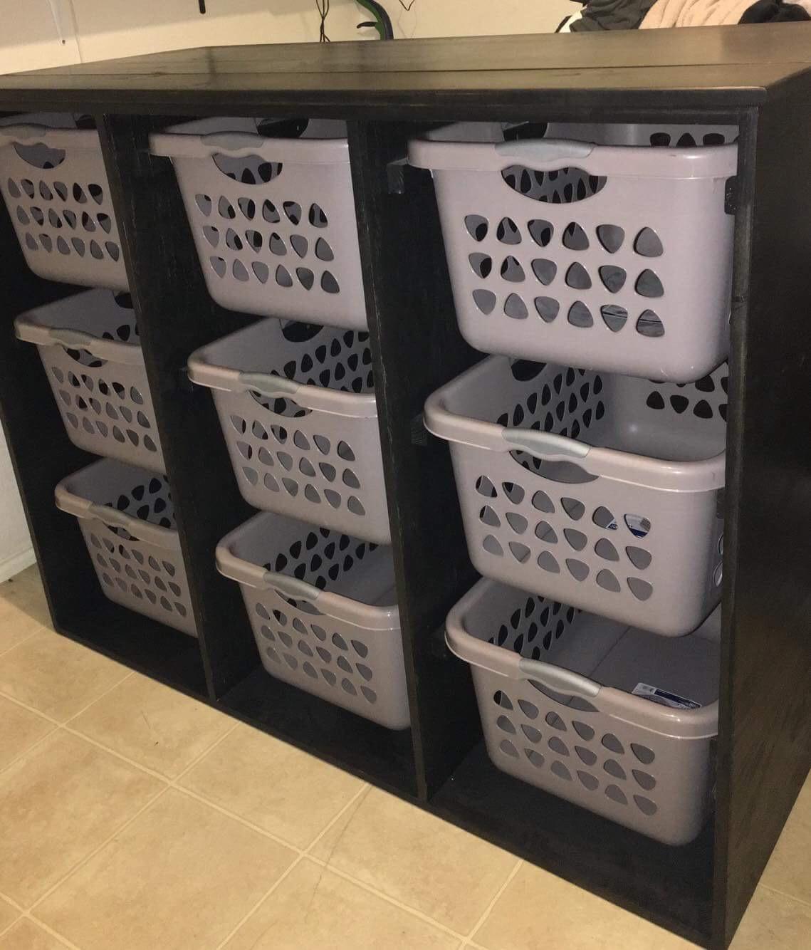 Laundry Basket Sorter - 9 Basket