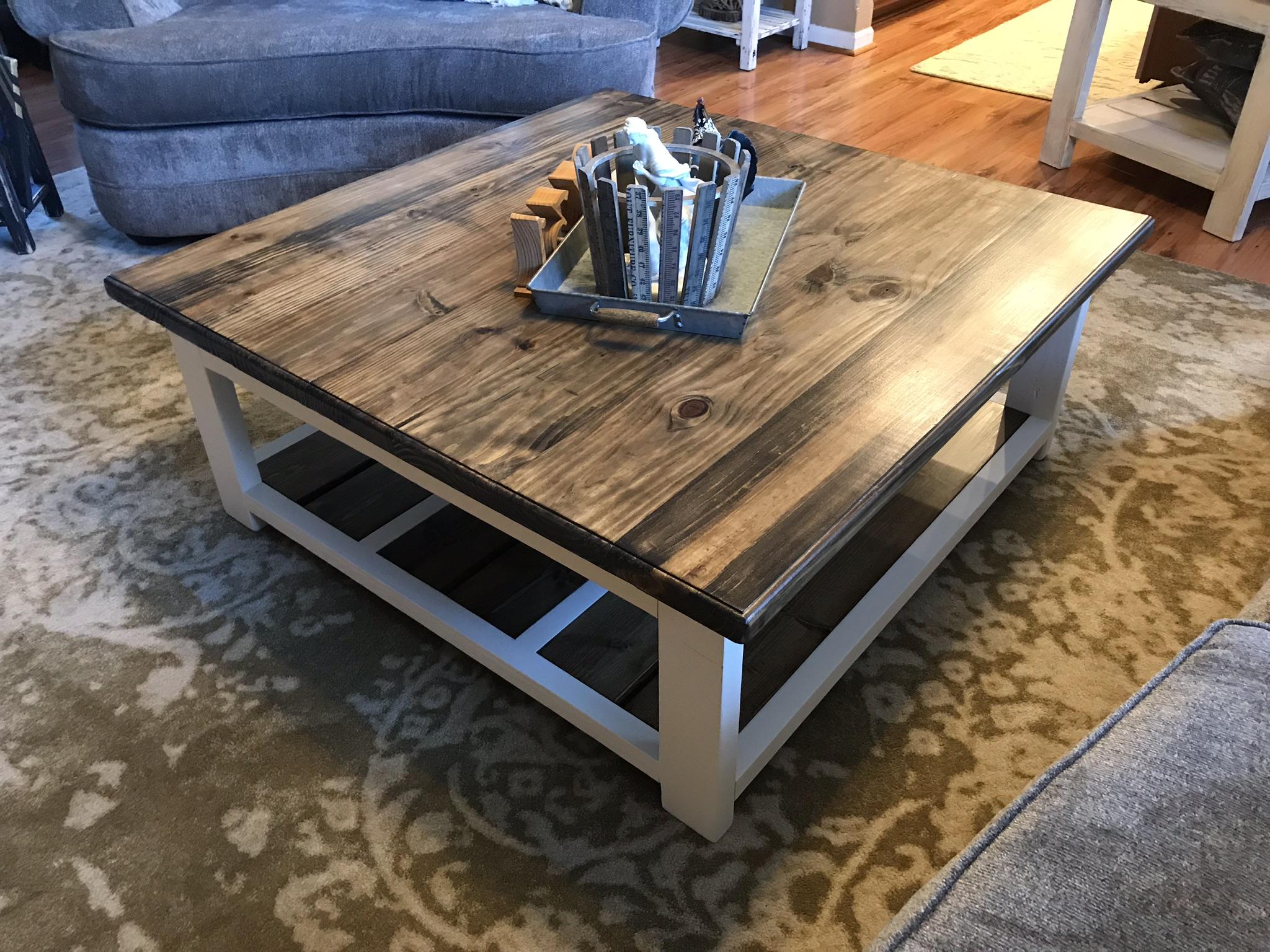 Diy Farmhouse Coffee Table 731 Woodworks We Build Custom