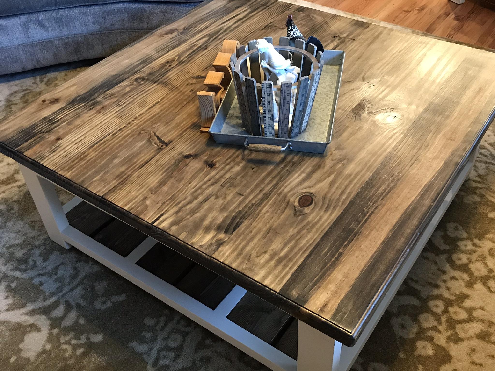 Diy Farmhouse Coffee Table 731 Woodworks We Build Custom Furniture Diy Guides Monticello Ar