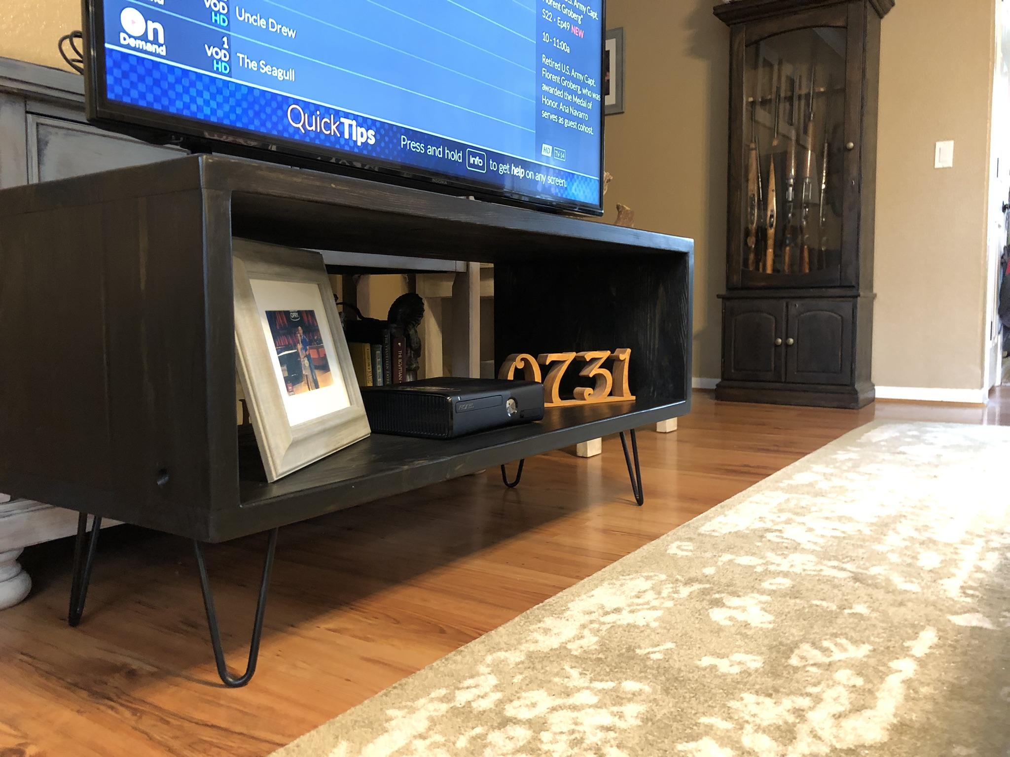 DIY modern TV stand with hairpin legs.jpeg