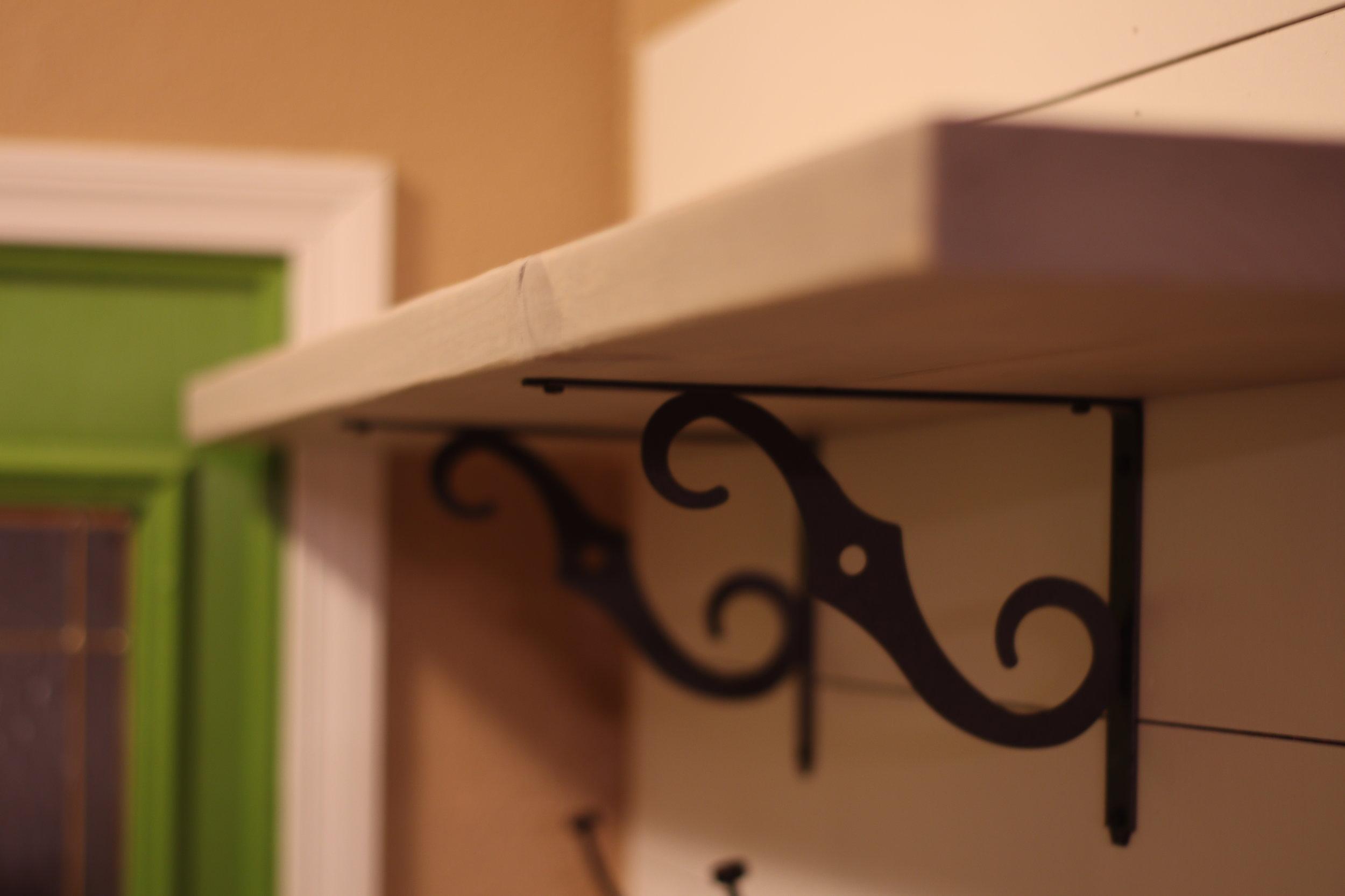 Oil Rubbed Bronze Shelf Brackets
